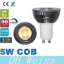 warranty 3 years cree led bulbs cob 5w gu10 dimmable led lights