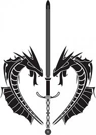 Sword And Dragon Tattoo Tribal By Unknown Artist
