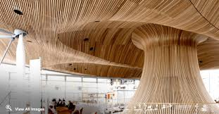 Rulon Wood Grille Ceiling by Internal Ceilings Acoustic Timber Panels Acoustic Wood Ceilings