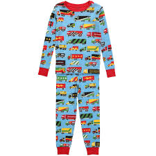 hatley boys blue cotton u0027big rig truck u0027 pyjamas childrensalon