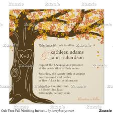 Fall Wedding Invitation Best And Beautiful Design Collection For Your Invitations Oak Tree