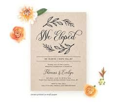 Elopement Wedding Invitations Post Reception Invitation Wording
