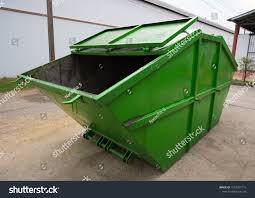 100 The Big Green Truck Dumpster Garbage On Stock Photo Edit Now