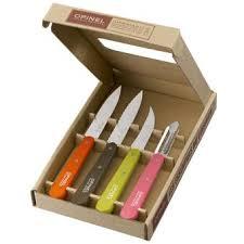 coffret couteau cuisine coffret couteaux de cuisine opinel les essentiels fifties achat