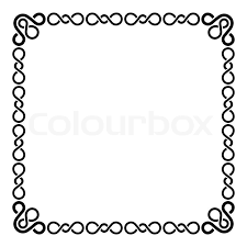 Calligraphic Frame And Page Decoration Curl Border On Blank White Vector Illustration