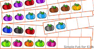 Practice Simple Patterns And Fine Motor Skills By Cutting Pasting These Colorful Pumpkin