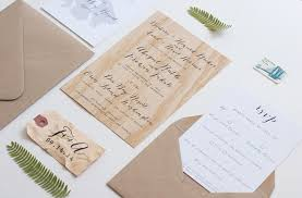 Wood Veneer Wedding Invitation Anelise Salvo Design OSBP7