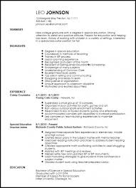Download Special Education Teacher Resume Samples Best Of Free Teaching Example
