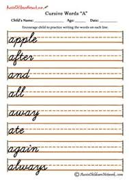 Cursive Handwriting Worksheets J