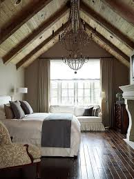 Amazing Master Bedroom Off Loft Dark Hardwood Floors AND Exposed Beams Fireplace IN The Big Enough To Have A Bed