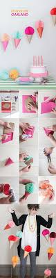 Ice Cream Cone Garland For Birthday Party Decoration Here Is An Easy Project Or A Sweets This Colorful And Festive Looks