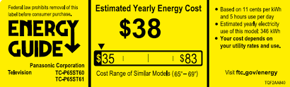 Heres The Official Energy Guide Label For A 65 Inch 2013 Plasma TV Your Mileage May Vary ABT