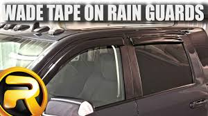 How To Install Wade Tape On Rain Guards - YouTube How To Install Rain Guards Inchannel And Stickon Weathertech Side Window Deflectors In Stock Avs Color Match Low Profile Oem Style Visors Cc Car Worx Visor For 20151617 Toyota Camry Wv Amazoncom Black Horse 140660 Smoke Guard 4 Pack Automotive Lund Intertional Products Ventvisors And 2014 Jeep Patriot Cars Sun Wind Deflector For Subaru Outback Tapeon Outsidemount Shades Front Door Best Of Where To Find Vent 2015 2016 2017 Set Of 4pcs 1418 Silverado Sierra Crew Cab Shade