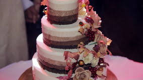 Tiered Wedding Cake With Rustic Stock Video Footage