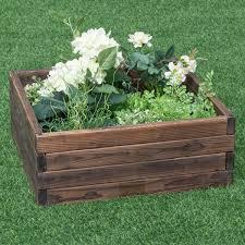 Details About KING BIRD 68x355x118 Raised Garden Bed Planter Kit Box Grey