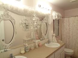 White Shabby Chic Bathroom Ideas by Small Bathroom Brown Wooden Vanity With Storage And Double White