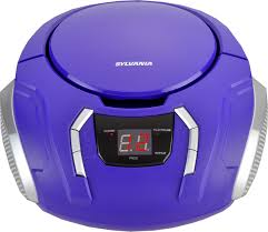 Ilive Under Cabinet Radio With Bluetooth Manual by Sylvania Portable Cd Boombox With Am Fm Radio Purple Portable