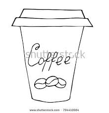 Cup Clipart Black And White Coffee Go Paper Cups Stock Vector Shutterstock