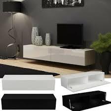 tv board lowboard hängend wohnwand fernsehschrank hochglanz