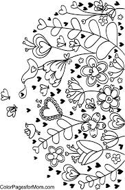 Hearts Coloring Page Perfect To Paint On A Ceramic Or Clay Flower Pot