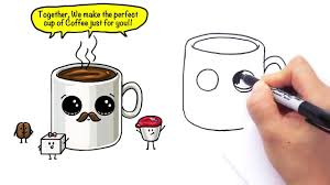 1280x720 How To Draw A Cartoon Cup Of Coffee Cute And Easy With Mustache