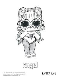 Lol Coloring Pages Doll Online Angel Surprise Page To Print
