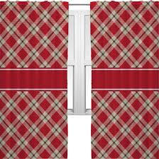 Primitive Living Room Curtains by Curtain Room Shower Heritage Primitive Red Plaid Curtains Country