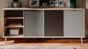 sideboard eiche und grau kommode 210 x 88 cm wohnzimmer