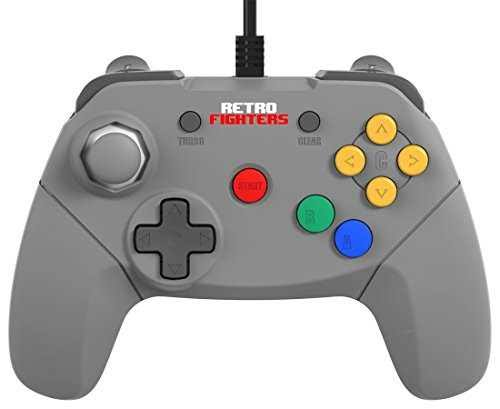 Retro Fighters For Nintendo 64 N64 Brawler 64 Gamepad Controller - Gray