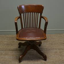Quality Edwardian Antique Oak Swivel Office Chair - Antiques ...