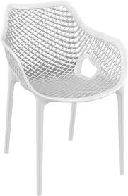 Air XL Outdoor Dining Arm Chair White (Set Of 2) Comfortcare 5piece Metal Outdoor Ding Set With 52 Round Table T81 Chair Provence Hampton Bay Mix And Match Stack Patio 49 Amazoncom Christopher Knight Home Lala Grey 7 Chairs Of 4 Tivoli Tub Black Merilyn Rope Steel Indoor Beige Washington Coal Click Pc Stainless Steel Teak Modern Rialto Rectangle 6