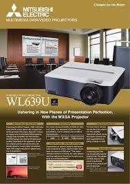 Mitsubishi Projector Lamp Replacement Instructions by Download Free Pdf For Mitsubishi Wl639u Projector Manual