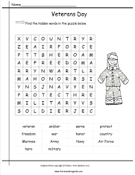Veterans Day Printable Coloring Pages Lesson Plans Themes