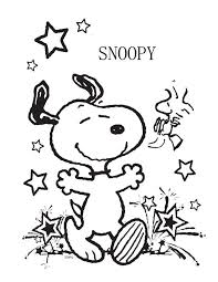 Snoopy Very Happy Coloring Page