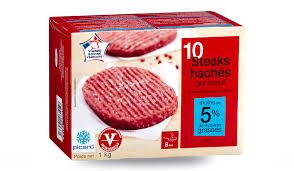 comment cuisiner un steak haché 10 steaks hachés surgelés les viandes volailles picard