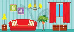 living room vector clipart