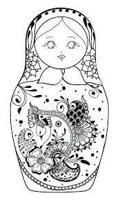 Coloring Pages Russian Dolls Sheets Around World Free Page Book