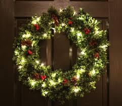 pre lit christmas wreaths happy holidays