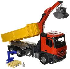 Amazon.com: Bruder MB Arocs Construction Truck With Crane And ... Authentic Bruder Toys Man Telecrane Tc 4500 Crane Truck New In Box Kavanaghs Bruder Mercedes Benz Arocs Crane Truck With Lights Yellow With 360degree Swiveling 02754 Cstruction Tga Castle 02769 Forestry Timber With Loading Amazoncom Man And 3 2 Mack Granite Liebherr Games Truck Franc Jeu Rosemere News 2017 Unboxing Dump Garbage Crane Tgs By Fundamentally