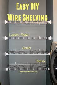 easy diy wire shelving cheap easy and to install