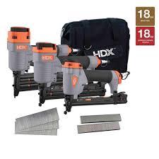 Home Depot Husky Floor Nailer by Hdx Nail Guns U0026 Pneumatic Staple Guns Air Compressors Tools