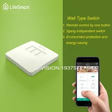 lifesmart rf433mhz remote smart in wall touch light