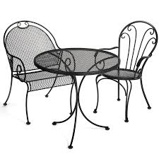 Black Wrought Iron Indoor Outdoor Furniture 42 Black Metal Outdoor Fniture Ding Phi Villa 300lbs Wrought Iron Patio Bistro Chairs With Armrest For Genbackyard 2 Pack Wrought Iron Garden Fniture Mainstays 3piece Set Gorgeous Patio Design Using Black Chair And Round Table With Curving Legs Also Fabric Arlington House Chair Commercial Sams Club 2498 Slat At Home Lck Table2 Chairs Outdoor Gray Mesh Back