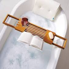 product image for teak bathtub tray caddy 4 out of 4 want