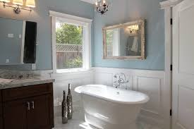 Wainscoting Around Tub Bathroom Traditional With Wall Art Freestanding Vanities Tops