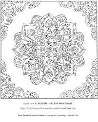 Online Free Mandala Coloring Pages