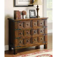 Amazing Accent Cabinet For Living Room Brown Oak Wood Drawer Chest Metal Traditional Table Lamp