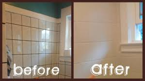 500 bathroom makeover in 3 days painted tiles painting