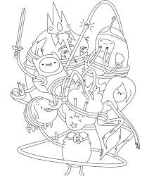 Funny Adventure Time Coloring Pages