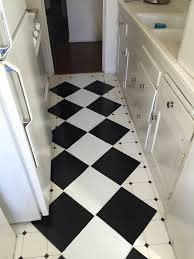 Laying Vinyl Tile Over Linoleum by A Clever Kitchen Tile Solution Clever